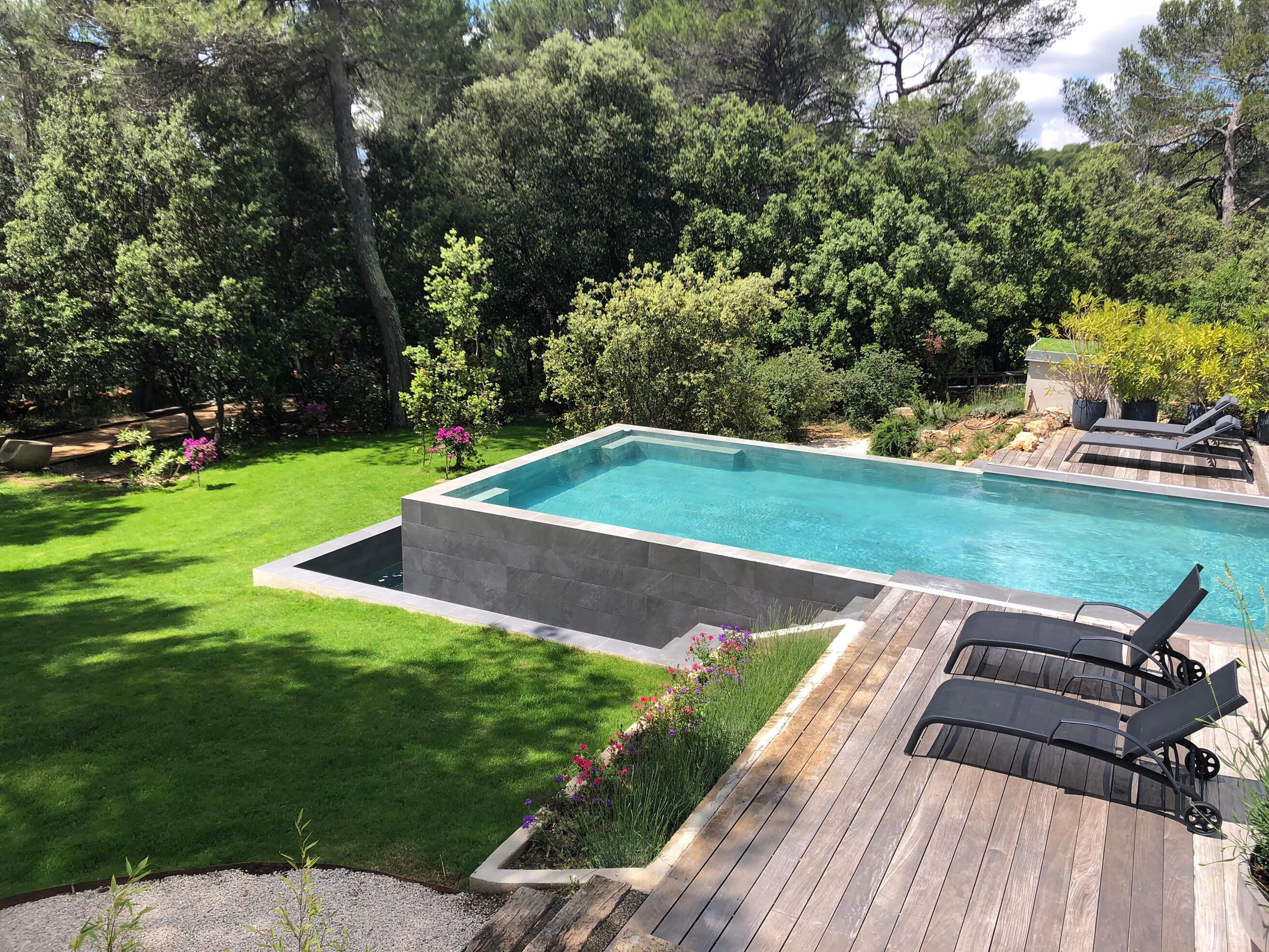 Démolition et rénovation d'une piscine - Saint Marc de Jaumegarde - Espaces Modernes