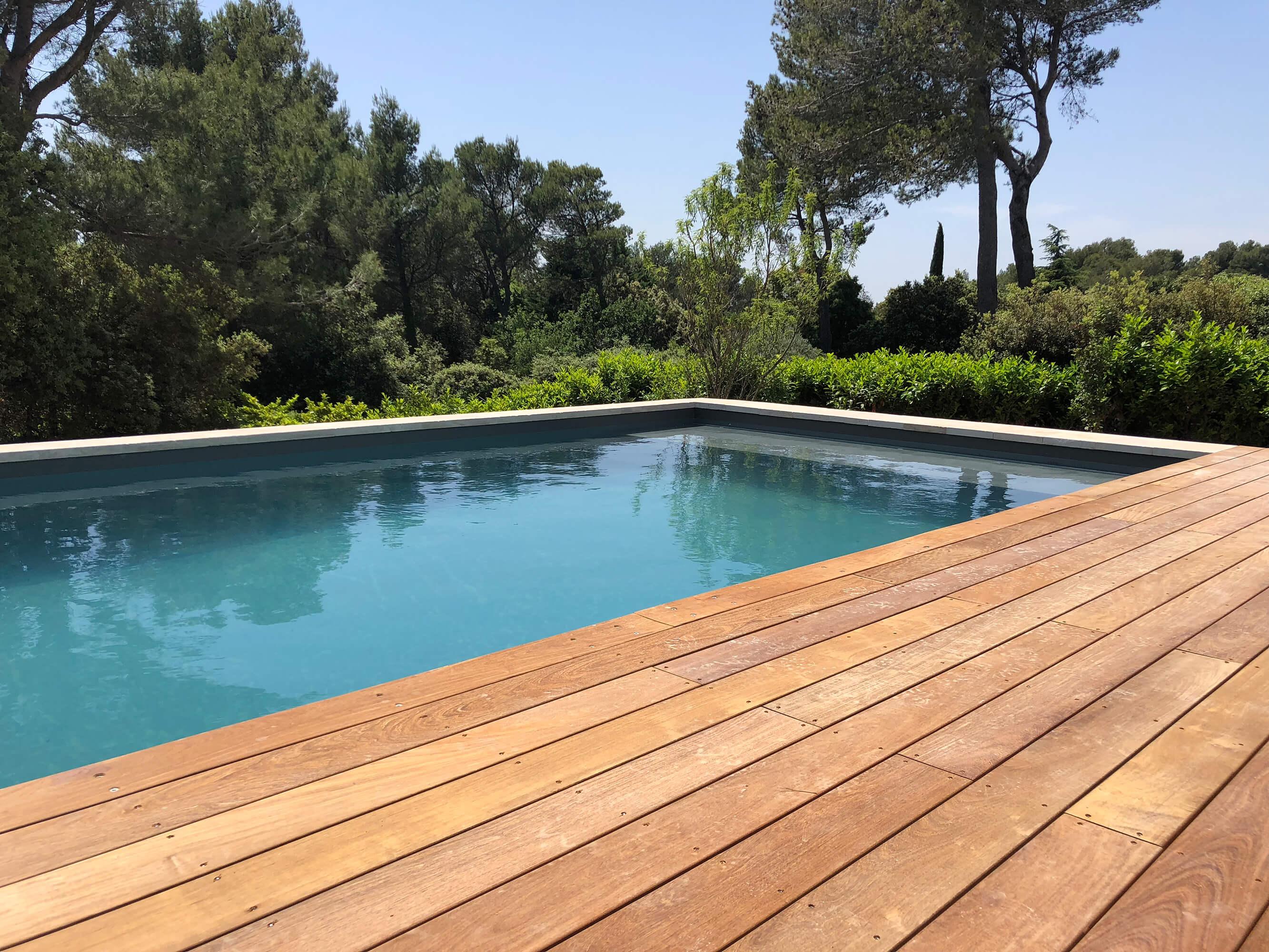 Piscine et terrasse - St Marc Jaumegarde - Espaces Modernes - Paysagisme