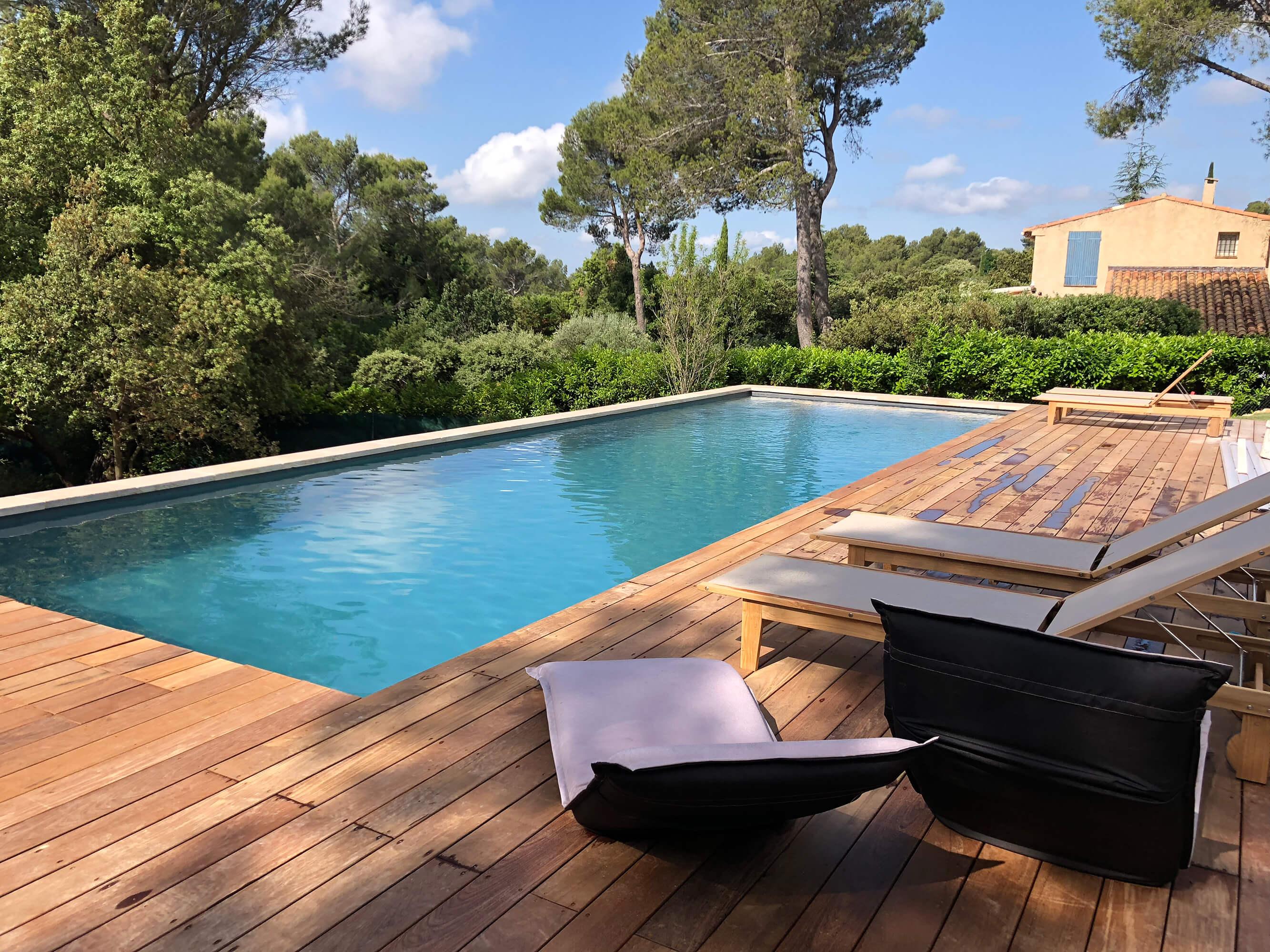 Fantastique Création de piscine et terrasse - Espaces Modernes XH-77